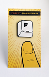 Press F Enamel Pin