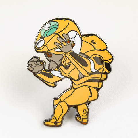 Evangelion Unit 00 Enamel Pin - Prototype Yellow