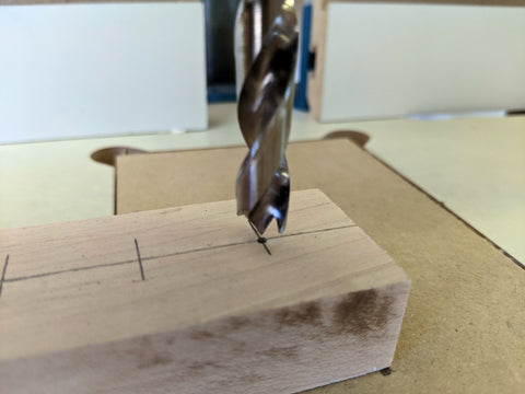 Drill with a Brad-Point Drill Bit