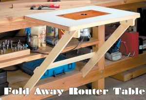 Simple Fold Away Router Table