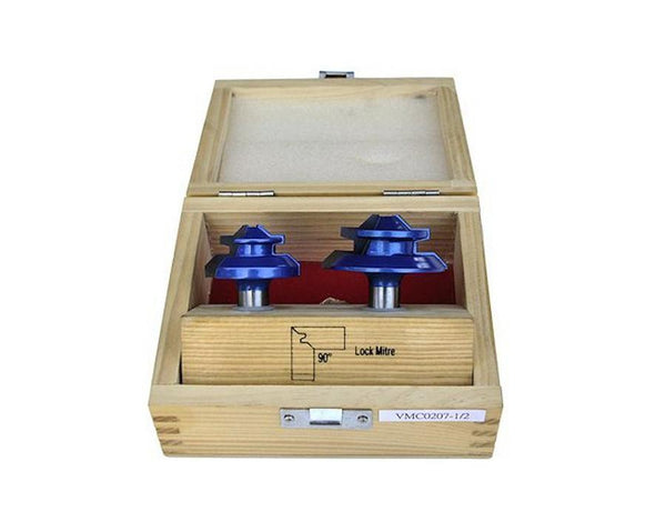 90 Degree Lock Miter Router Bit Set