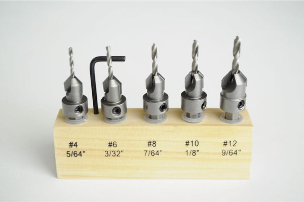 Carbide-tipped Countersink Set