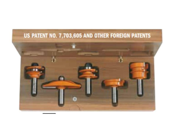 5-piece Complete Kitchen Router Bit Set
