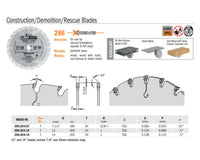 Chrome Construction Demolition Rescue Saw Blades