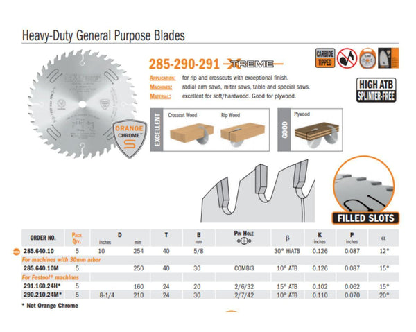Chrome Heavy Duty General Purpose Saw Blades