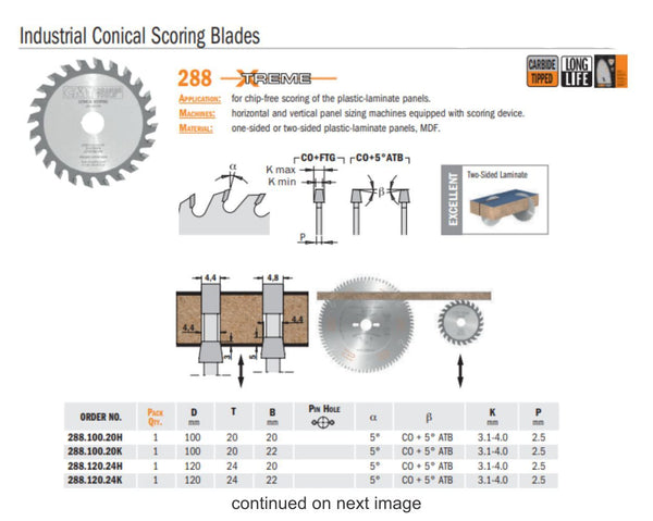 Chrome Industrial Conical Scoring Saw Blades