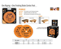 Contractor ITK-PLUS One Ripping + One Finishing Saw Blades Combo Pack