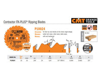 Contractor ITK-PLUS Ripping Saw Blades