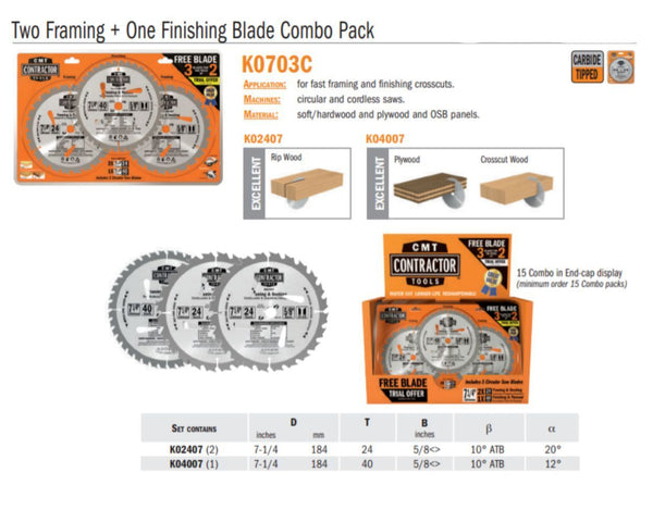 Contractor Two Framing & One Finishing Combo Pack