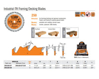 Industrial ITK Framing/Decking Saw Blades