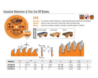 Industrial PTFE-Coated Melamine and Fine Cut-Off Saw Blades