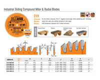 Industrial PTFE-Coated Sliding Compound Miter & Radial Saw Blades