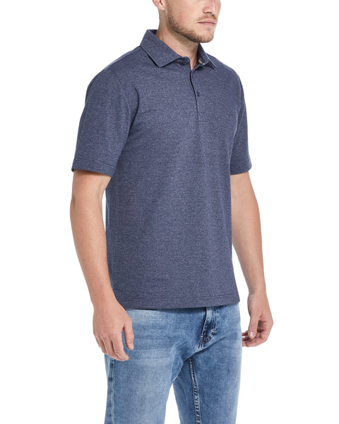 MICRO PIQUE POLO IN NAVY