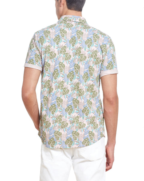 PIQUE PRINTED POLO IN LOTUS