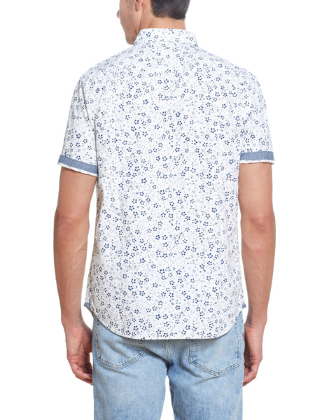 Poplin Printed Shirt in White