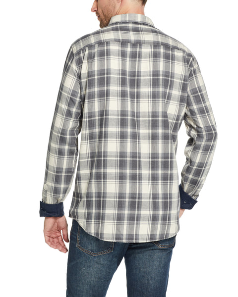 Weather Wash®  Plaid Flannel Shirt in Faded Denim