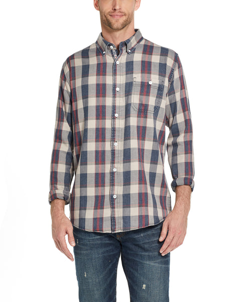 Weather Wash®  Plaid Flannel Shirt in Khaki