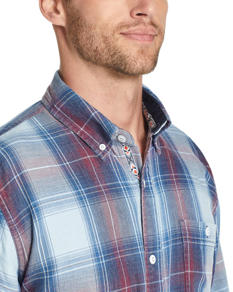 Weather Wash®  Plaid Flannel Shirt in Dark Indigo