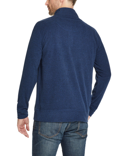QUARTER ZIP MICRO FLEECE PULLOVER IN DARK NAVY