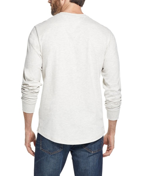 LONG SLEEVE BRUSHED CREW IN OATMEAL