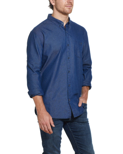 Long Sleeve Denim Shirt IN DENIM
