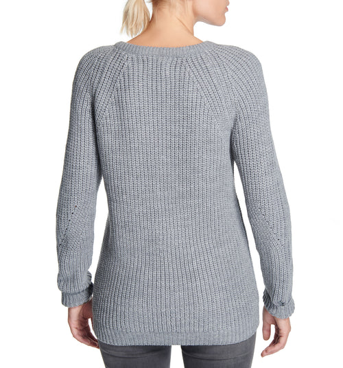 Diamond Crew Sweater Grey Heather
