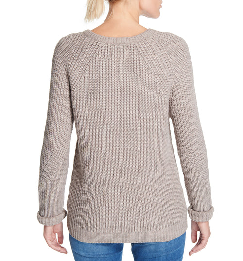 Diamond Crew Sweater Oatmeal Heather