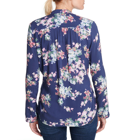 Floral Zip-Up Top Purple