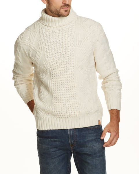 Chunky Turtleneck Sweater in Ecru