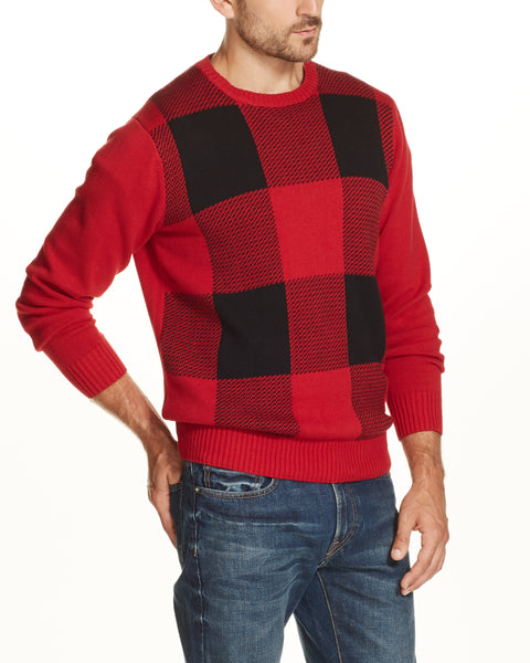 BUFFALO CREW SWEATER IN RED