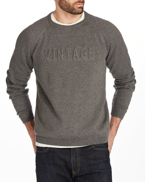 VINTAGE RAGLAN SWEATER IN SMOKE GREY HEATHER