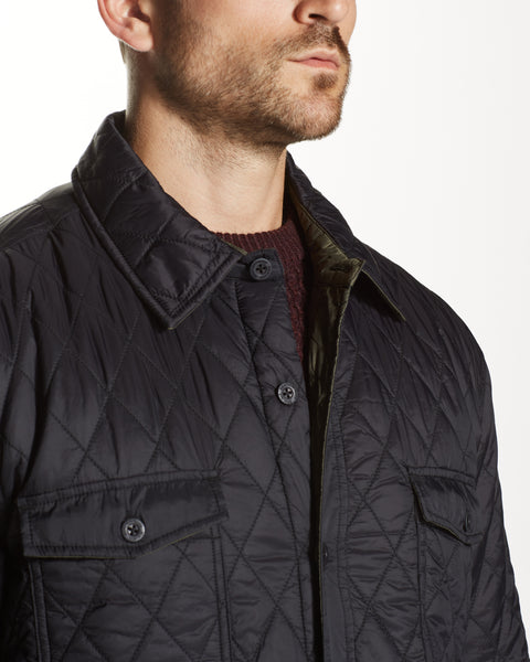 QUILTED JACKET IN BLACK