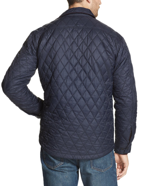 QUILTED JACKET IN DARK NAVY