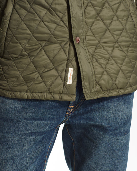 QUILTED JACKET IN OLIVE