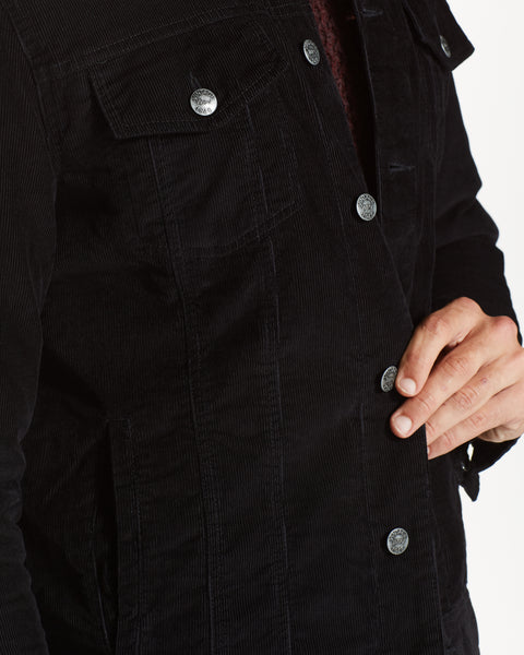 CORDUROY TRUCKER JACKET  IN BLACK