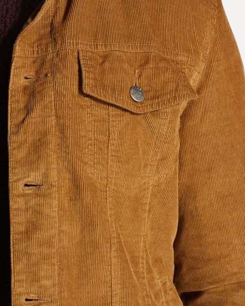 CORDUROY TRUCKER JACKET  IN CAMEL