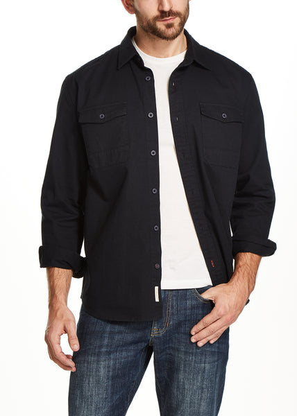 WASHED TWILL SHIRT IN NAVY