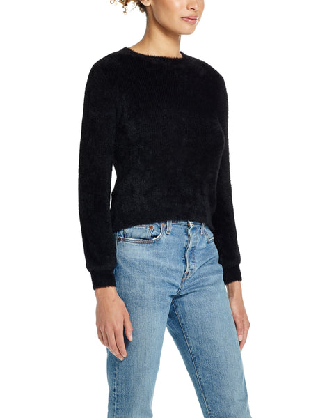 Eyelash Sweater in Black