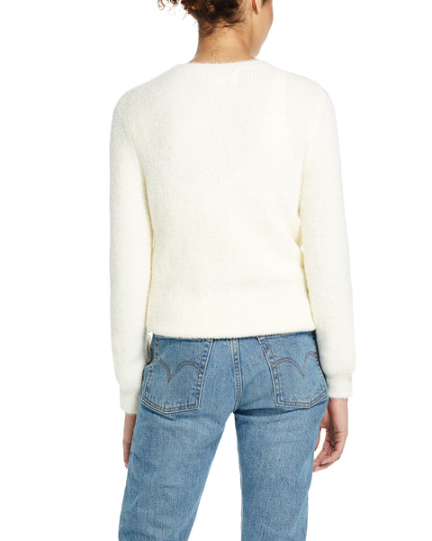 Eyelash Sweater in Ivory