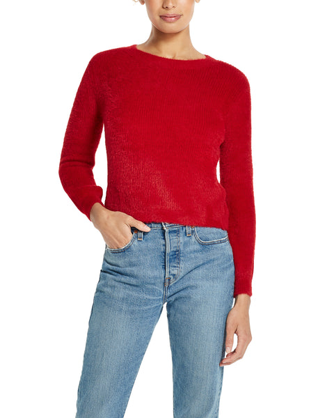 Eyelash Sweater in Red