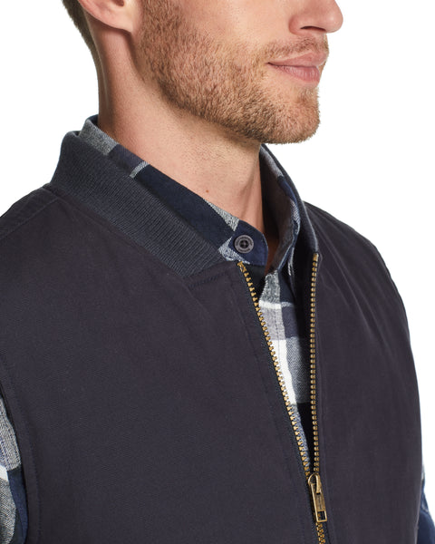 WEATHER WASH® CANVAS WORKWEAR VEST IN  NAVY
