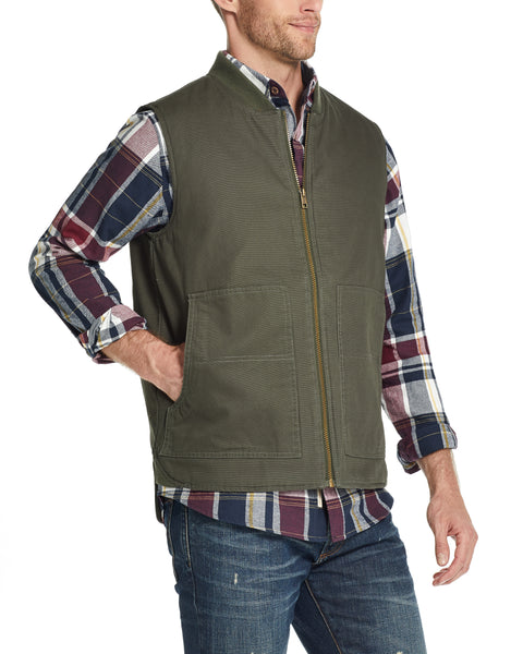 WEATHER WASH® CANVAS WORKWEAR VEST IN ROSIN