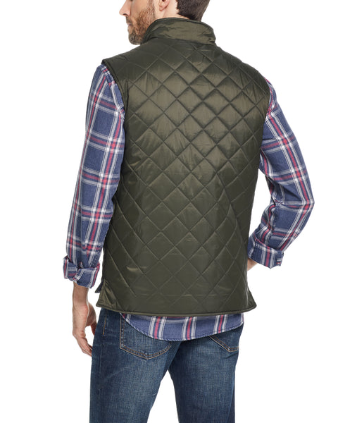 DIAMOND QUILTED VEST IN ROSIN
