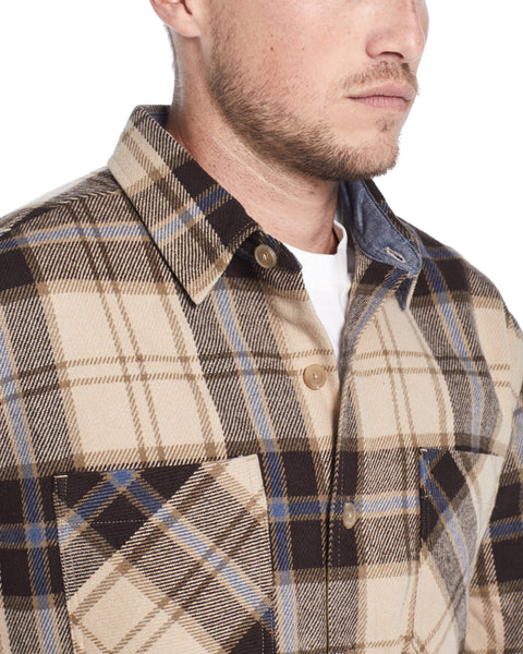 Mountain Twill Flannel in White Pepper