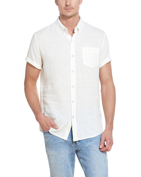 Linen Cotton Shirt in White