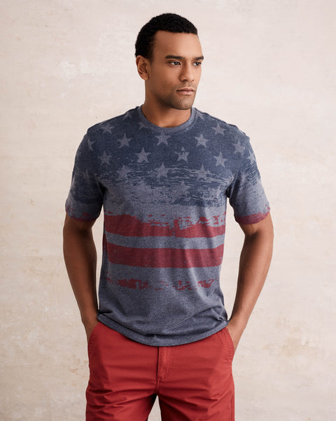 STARS AND STRIPES TEE  IN BLUE NIGHTS
