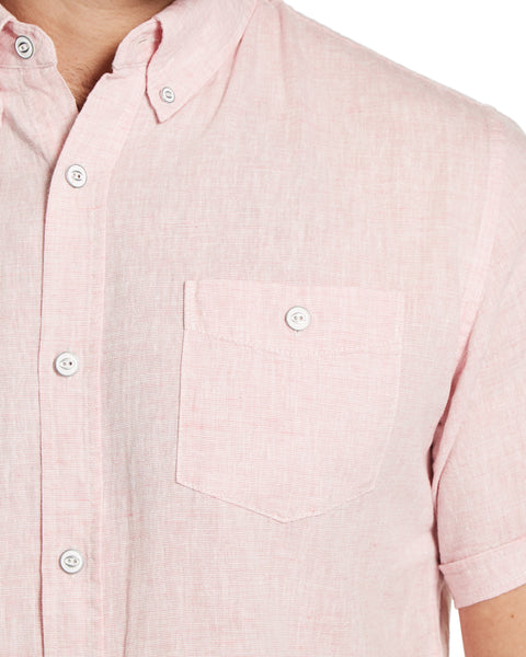 Linen Button down Shirt in Blush