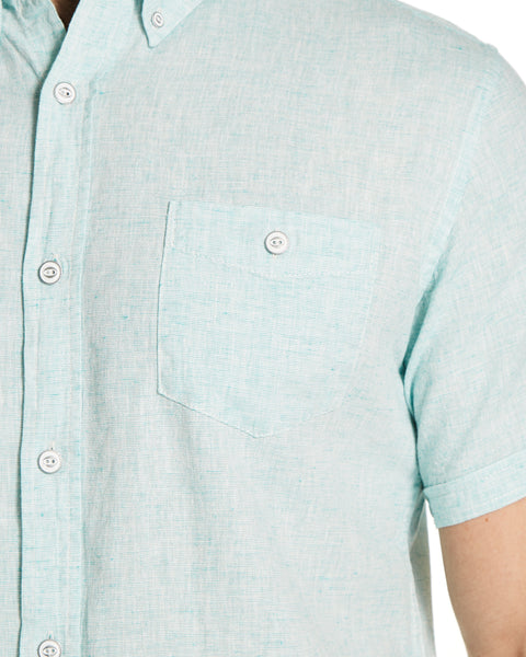 Linen Button down Shirt in Mint