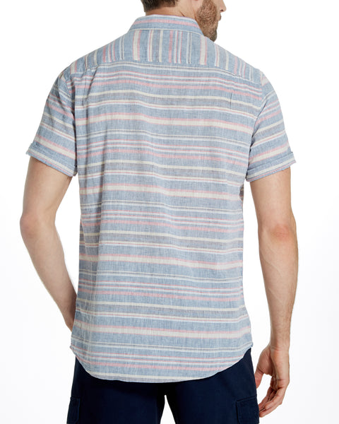 Horizontal Stripe Shirt in Blue Shadow