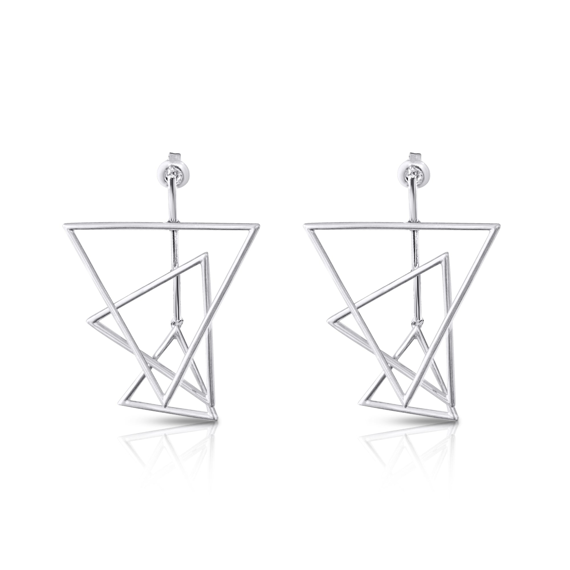 Triple Triangle Earrings-JY GAO